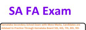 Karnataka 6th, 7th, 8th, 9th FA, SA Exam Question