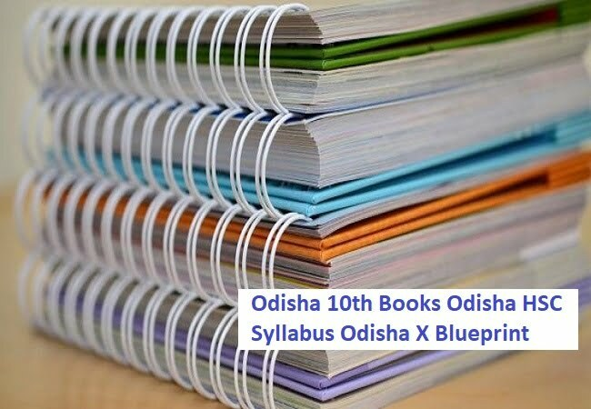 Odisha 10th Books 2020 Odisha HSC Syllabus 2020 Odisha X Blueprint 2020