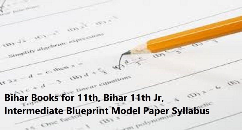 Bihar Books 2020 for 11th, Bihar 11th Jr, Intermediate Blueprint Model Paper Syllabus 2020
