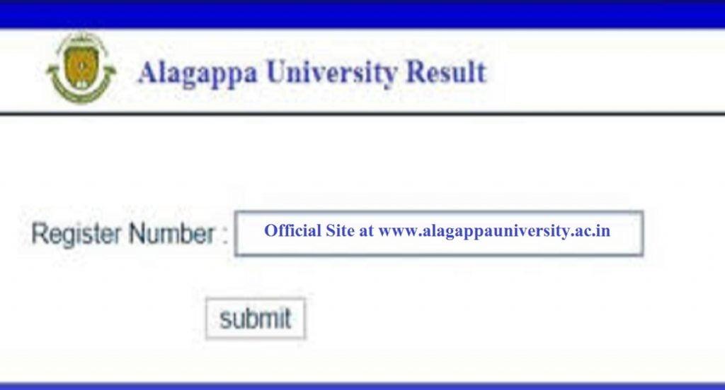 Alagappa University Result 2020 UG or PG (BA, B.Sc, B.Com, B.Ed, MA, M.Com) Semester Results alagappauniversity.ac.in