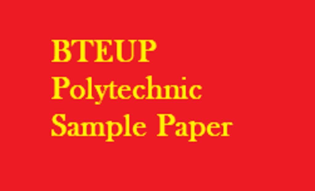 BTEUP Polytechnic Sample Paper 2019 UP JEECUP Physics, Chemistry, Maths
