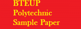 BTEUP Polytechnic Sample Paper 2019 UP JEECUP Physics, Chemistry, Maths